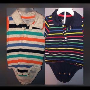 Adorable Carter's Boys Onesie Polos.  Size 18m👕